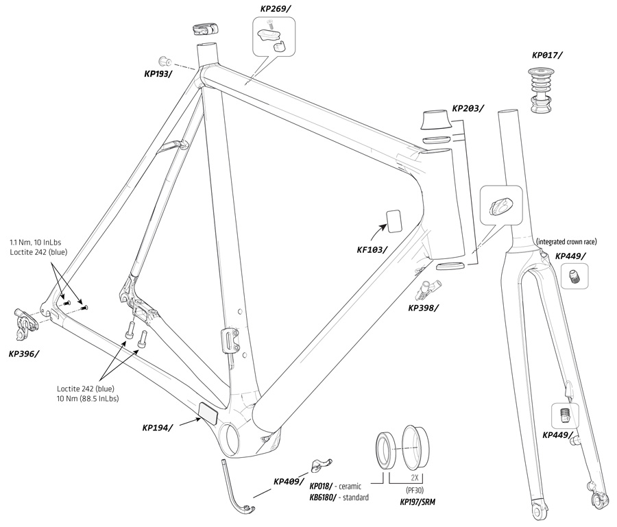 Supersix EVO Disc Parts