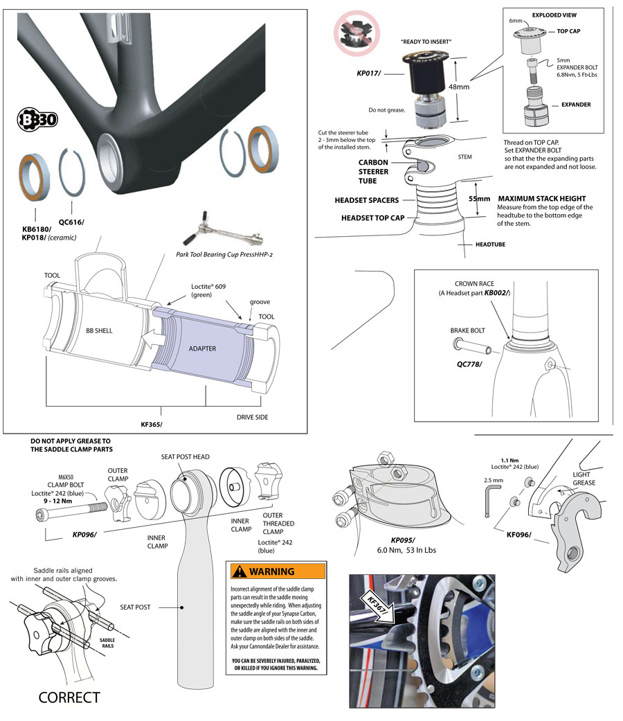 Synapse Carbon (2009-2011) Parts
