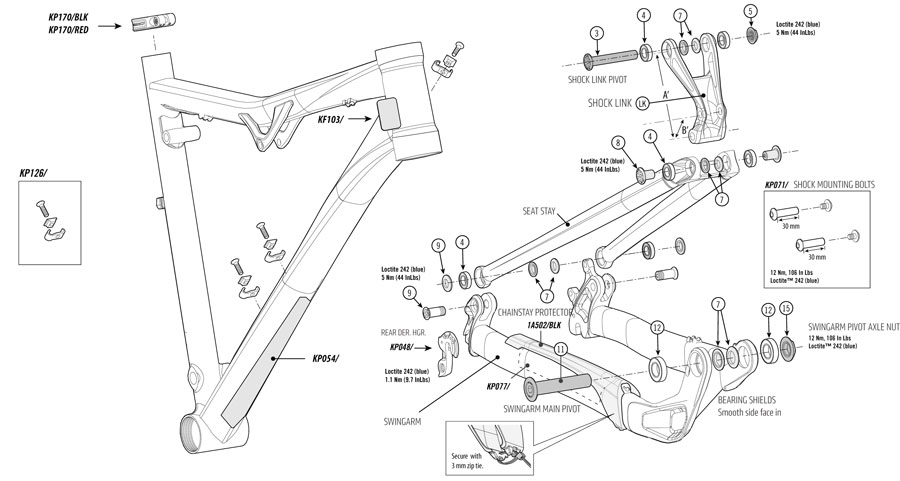 Cannondale Rush 29er 2014 Parts List And Exploded